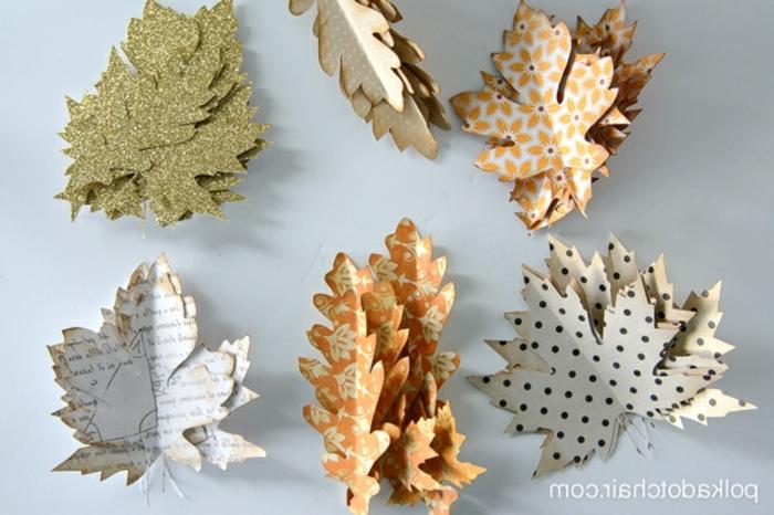 proyectos DIY y manualdiades de papel, adornos de papel para una decoración de otoño DIY, fotos de manualidades