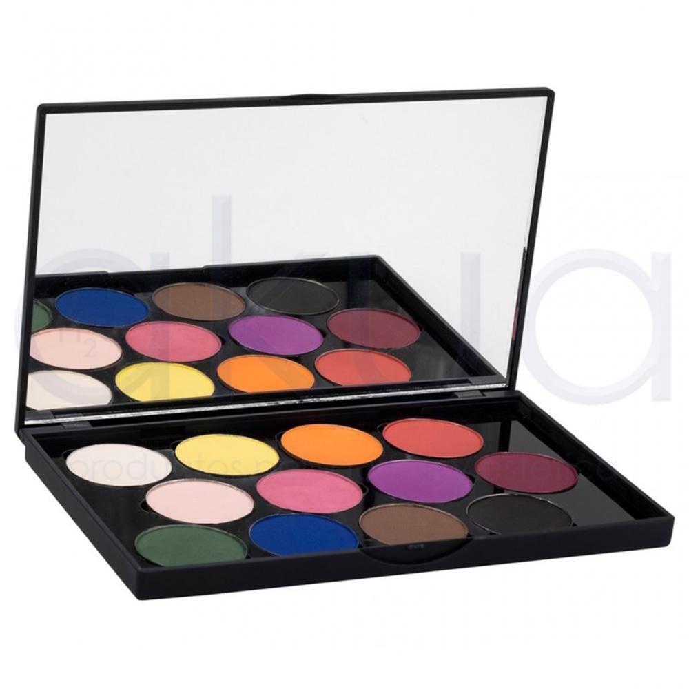 paleta de sombras de ojos en colores vibrantes, ideas de regalos con maquillaje, fotos de regalos especiales para suegras
