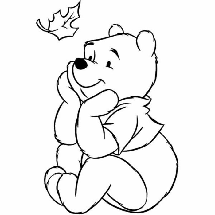 dibujos originales y bonitos, dibujo el Oso Pooh, dibujos a lapiz faciles y bonitos para niños, ideas para niños
