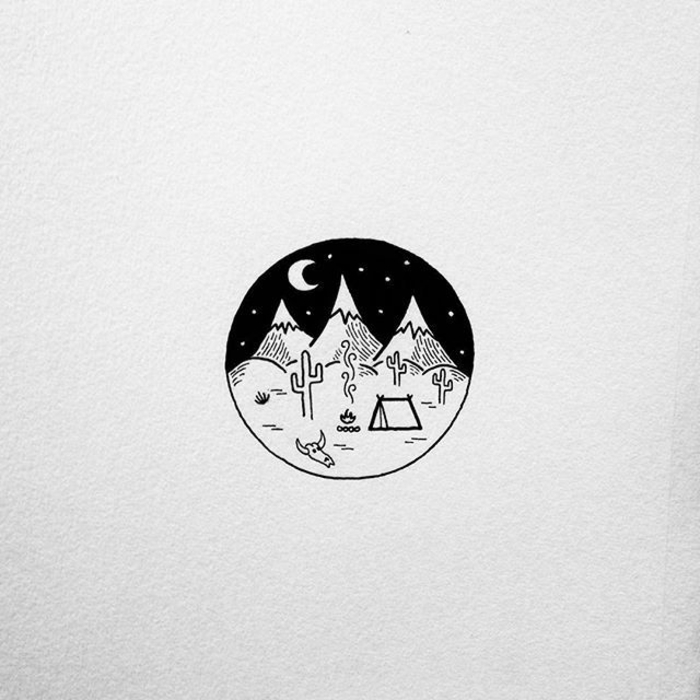 dibujos a lapiz faciles de hacer, bonitos dibujos de paisajes de naturaleza, dibujar montañas y detalles de la naturaleza