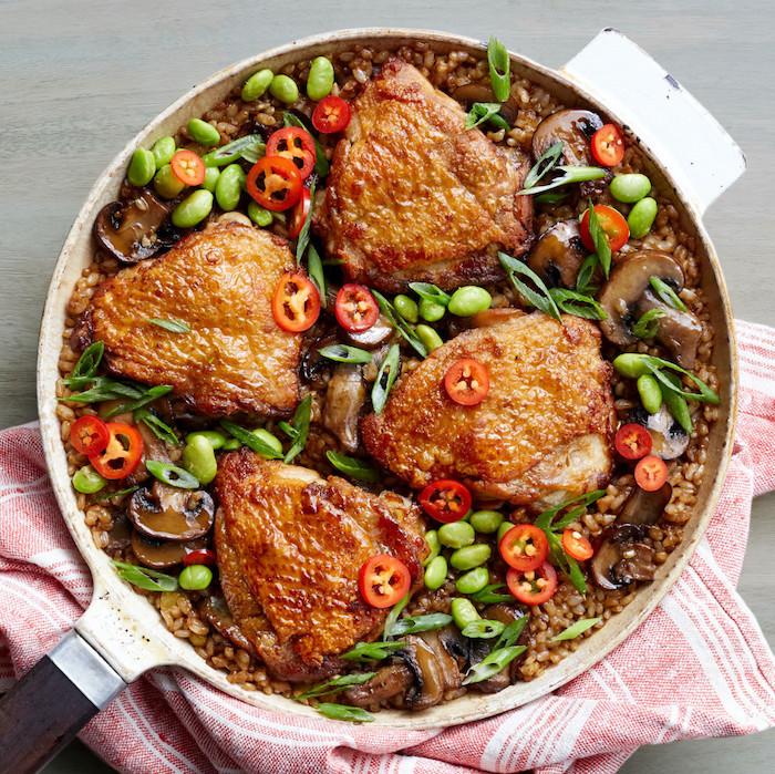 recetas de pechuga de pollo, platos originales y ricos para una dieta saludable, cenas ligeras y sanas en imágenes