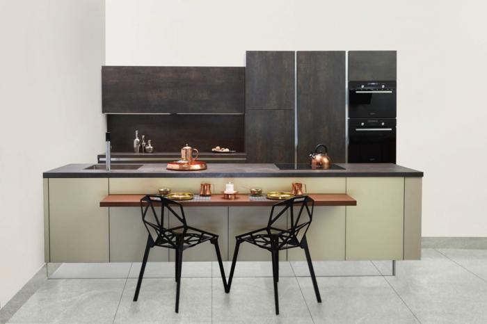 fotos de cocinas completas con barra multifuncional, diseños de cocinas en colores modernos, como amueblar una cocina