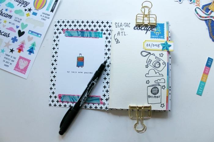 regalos caseros para amigas con un mensaje especial, pequeño cuaderno de viajes con dibujos tematicos echos a mano