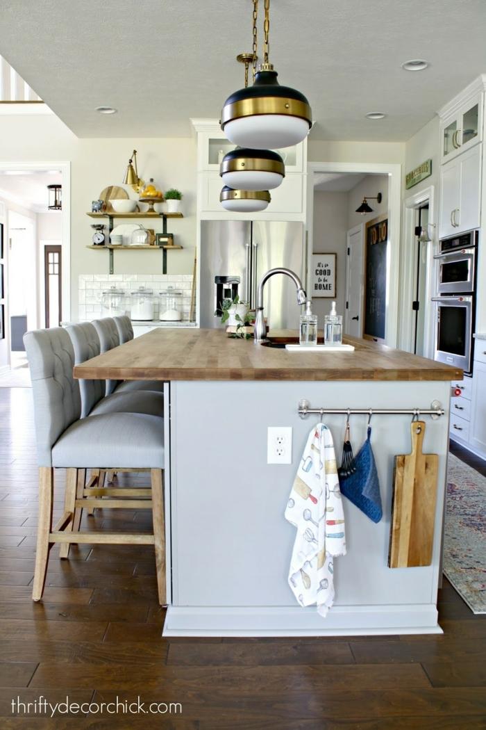 ideas de cocinas americanas pequeñas abiertas al salón, ideas sobre cómo amueblar una cocina, muebles de diseño cocina