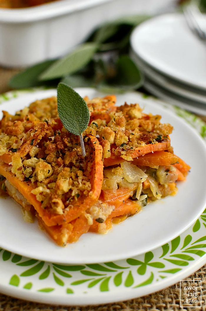 qué comer hoy ideas, recetas faciles y rapidas para comer, plato con batatas rico y saludable, recetas con batata