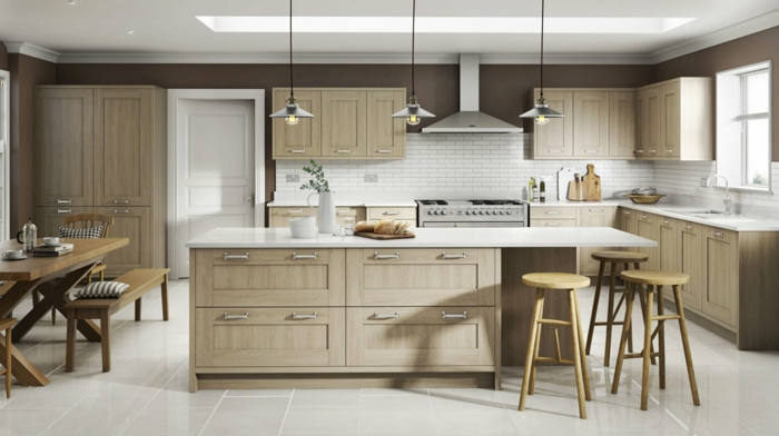 cocinas americanas pequeñas abiertas al comedor y el salón, ejemplos de grandes barras multifuncionales para la cocina
