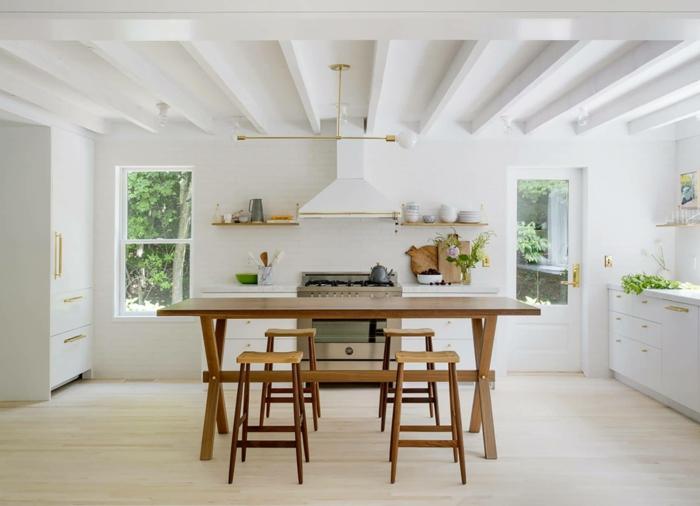 salon cocina americana en blanco, las mejores fotos de cocinas modernas, ideas de cocina abierta al salón y el comedor