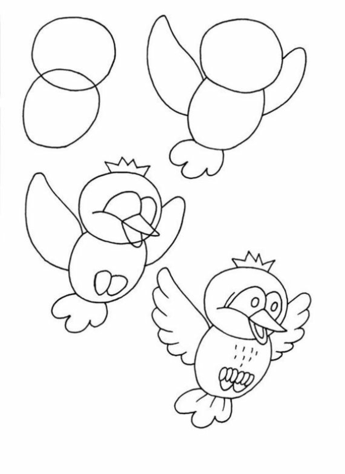 learn to draw step by step with our tutorials, easy drawings to draw, original bird drawings