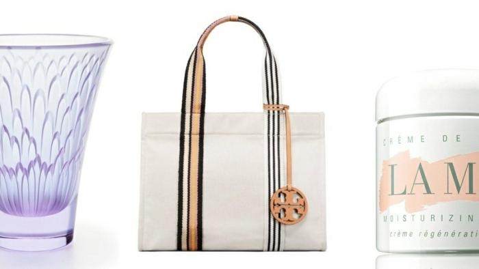 fotos de ideas sobre que regalar a una suegra, vasos de cristal, bolso moderno, cremas y pomadas, regalos sorpresa para mujeres