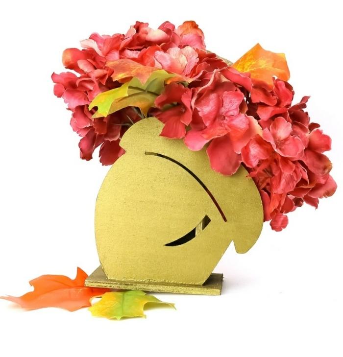 decoración DIY para el otoño con flores, fantásticas ideas de decoración de otoño para hacer en casa, tutoriales fáciles
