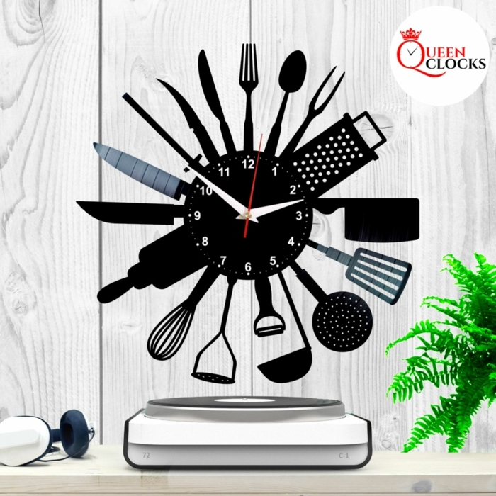 reloj de diseño super original para la cocina, ideas de detalles decorativos para la casa, regalos personalizados originales