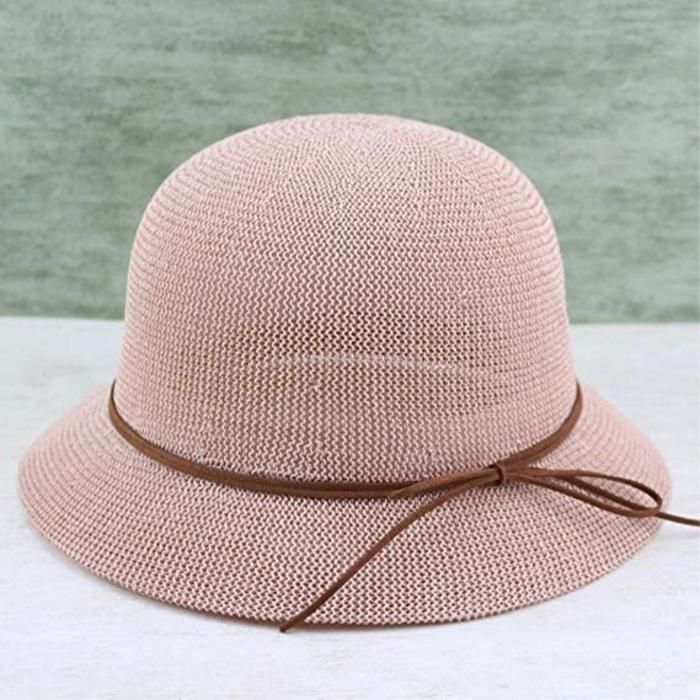 sombrero color rosa para regalar a tu madre o abuela, regalos de cumpleaños bonitos y útiles, ideas de regalos abuela