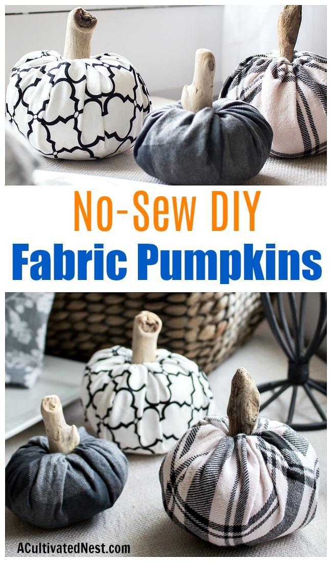 ideas de manualidades halloween en fotos, calabazas de tela super fáciles de hacer, fotos de decoración casera halloween