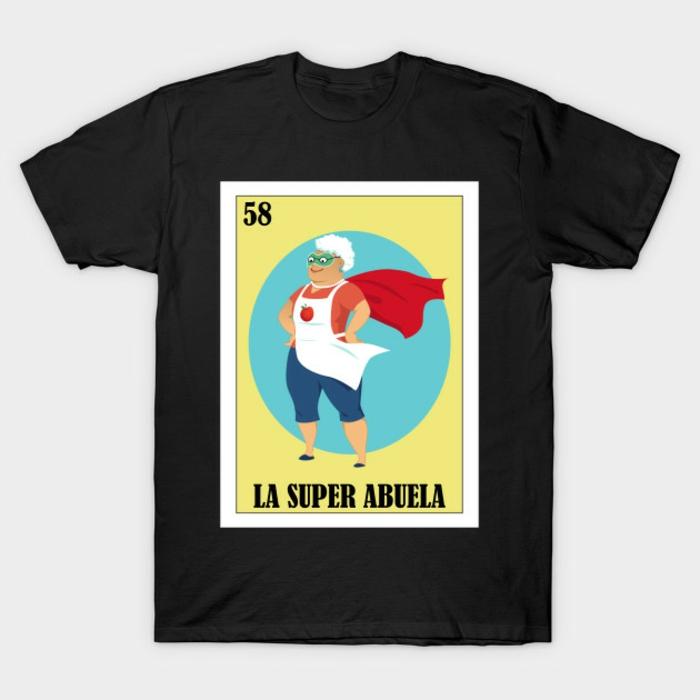 regalos de cumpleaños para tu nana, camiseta estampada la super abuela, ideas de regalos originales para los miembros de tu familia