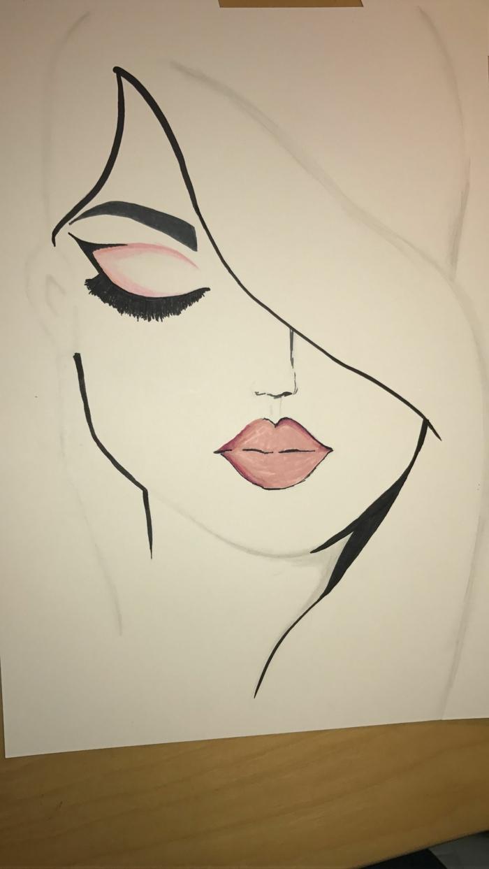 como dibujar una cara paso a paso, dibujos faciles de dibujar para principiantes, dibujos con marcador negro