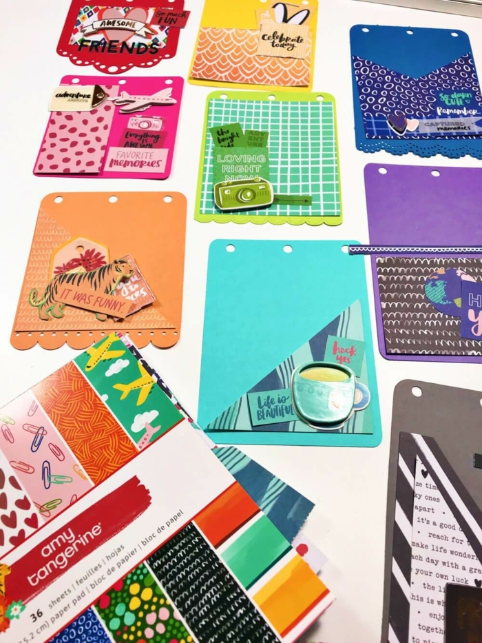 tarjetas coloridas para los amantes de los viajes, tutoriales de manualdiades y proyectos artesanales