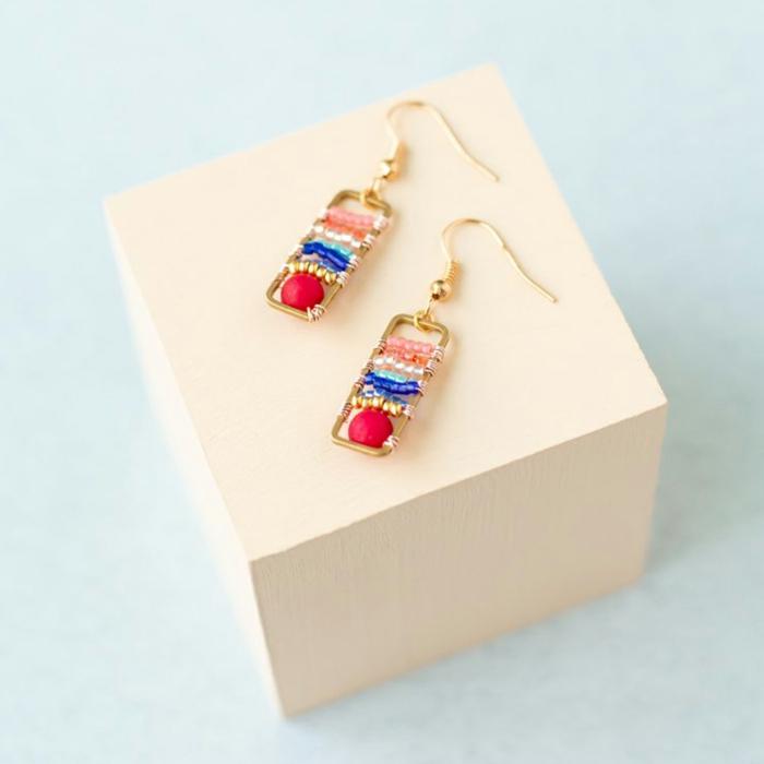 bonitas pendientes en colores, regalos originales para mujeres, joyas para regalar a tu suegra, ideas de regalos madre, abuela, suegra