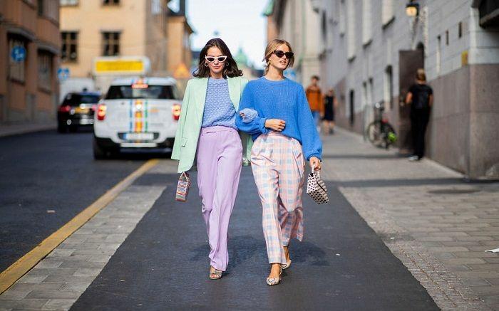 ideas para combinar ropa según las top tendencias para 2019, combinaciones de colores pastel en la ropa, moda femenina 2019