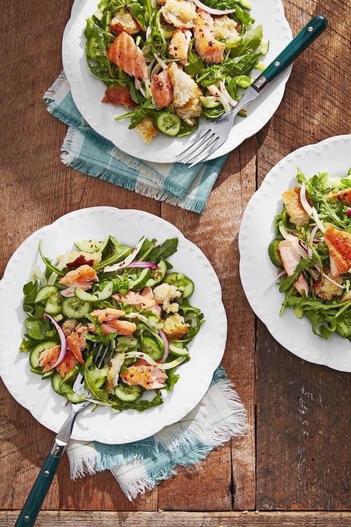 ensaladas ligeras con muchas verduras, ideas de recetas de comidas y cenas rapidas para preparar en menos de 30 minutos