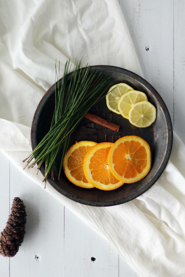 ingredientes para hacer ambientadores caseros, frutas y ingredientes secos, ideas de aromatizantes naturales