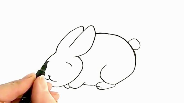 ideas sobre como dibujar un conejo paso a paso, dibujos faciles y bonitos en fotos, ideas para pequeños y adultos