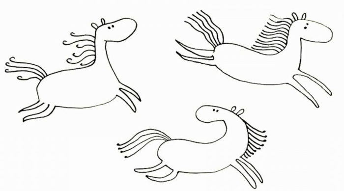 fun easy and cute drawing ideas to learn how to draw, how to draw a horse step by step