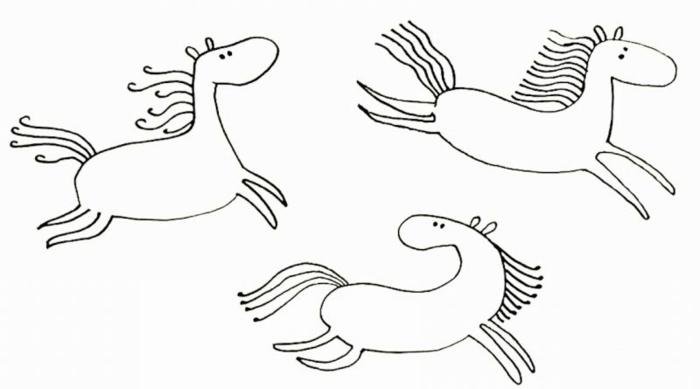 divertidas ideas de dibujos faciles y bonitos para aprender a dibujar, como dibujar un caballo paso a paso