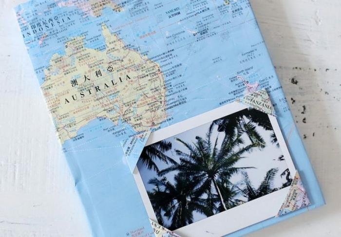 como hacer un cuaderno de viaje DIY bonito paso a paso, regalos fáciles de hacer en casa, ideas de regalos