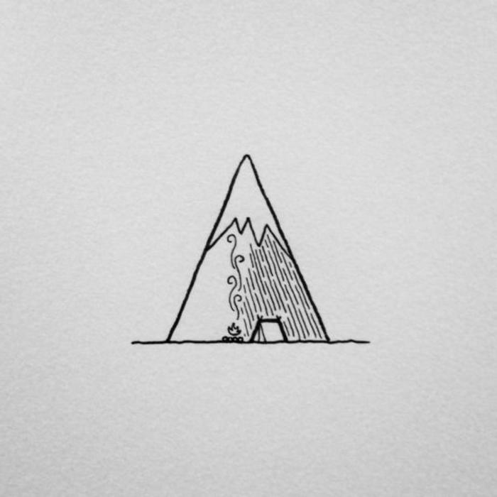 precioso detalle para redibujar, ideas de fotos de dibujos fáciles de hacer, pequeños dibujos con paisajes naturales