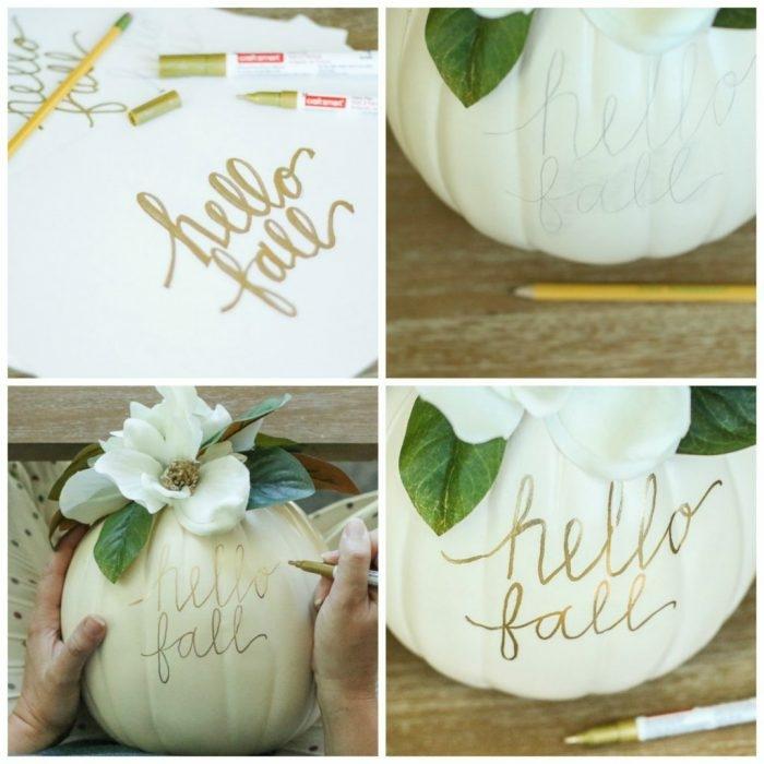 manualidades para niños faciles y divertidas para dar un aire otoñal a tu casa, calabazas decoradas para el otoño
