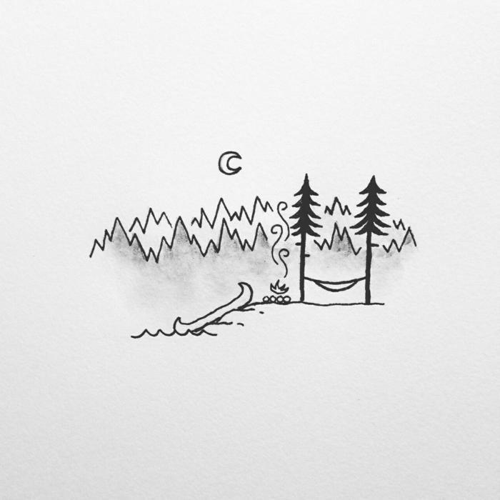 dibujos pequeños naturaleza, dibujos chulos y originales para calcar, ideas de dibujos que puedes descargar