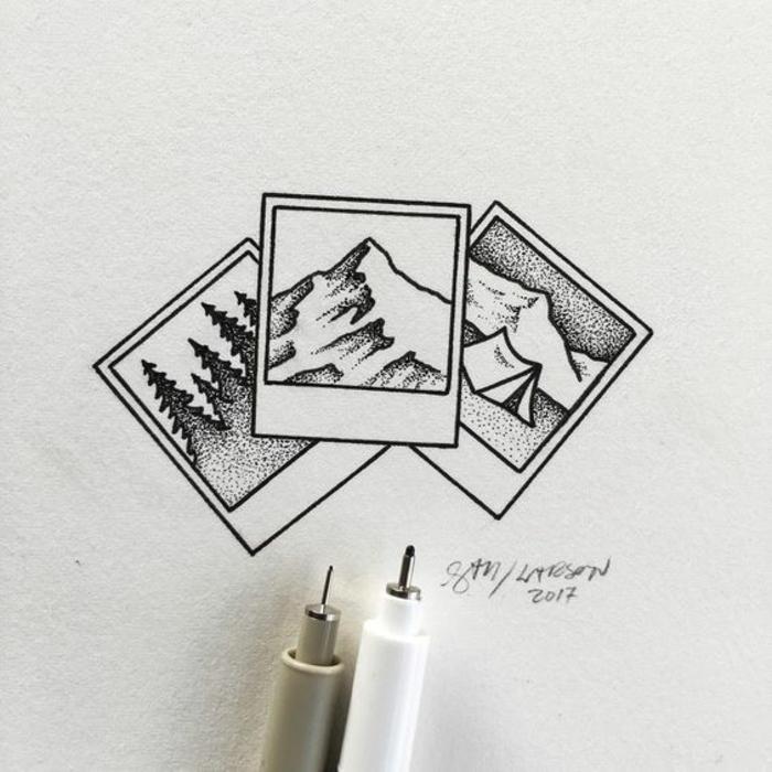 dibujos en blanco y negro inspiradoras, dibujos chulos para inspirarte y empezar a dibujar, fotos de dibujos
