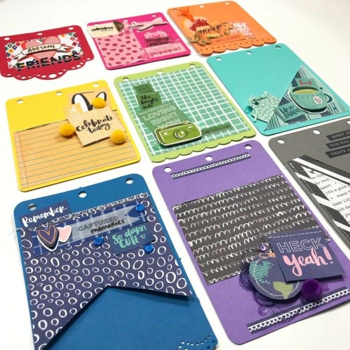 tarjetas coloridas y divertidas DIY para regalar a tus amigos viajeros, regalos para mejores amigas en fotos