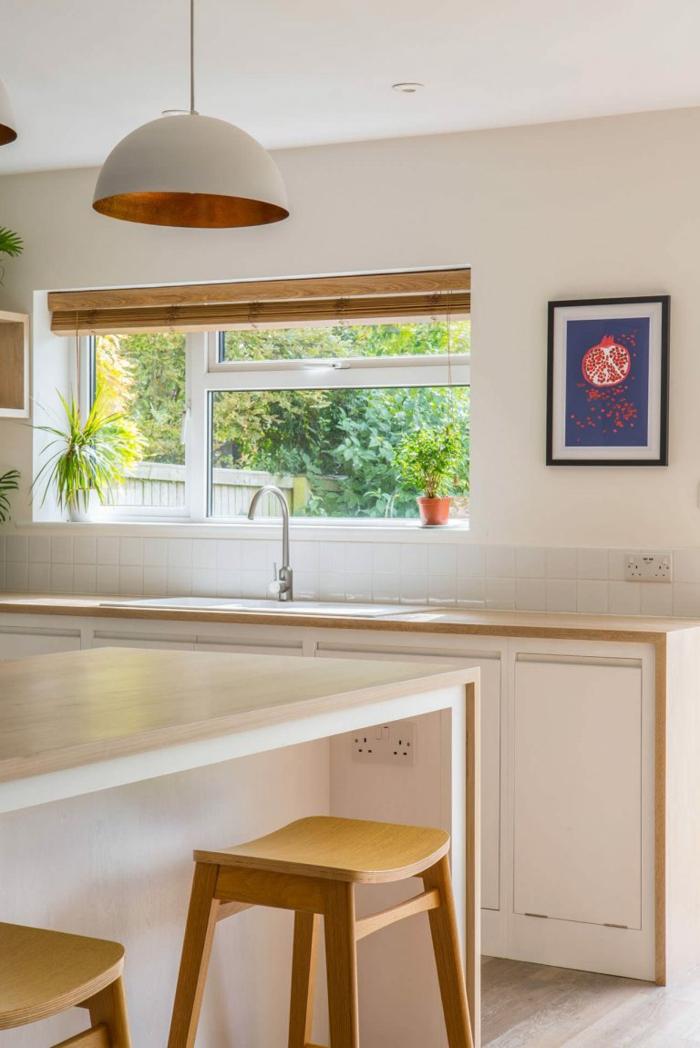 las mejores fotos de cocinas abiertas al salón, cocina blanco y madera, imágenes de cocinas abiertas al salon bonitas