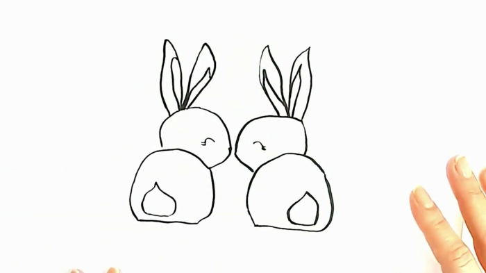 easy ways to draw a rabbit, easy and cute animal drawings, cool drawing ideas