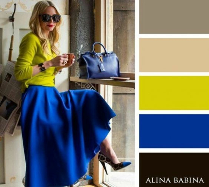 colores que pegan bien, color amarillo lima combinado con color azul brillante, colores que combinan con amarillo y azul
