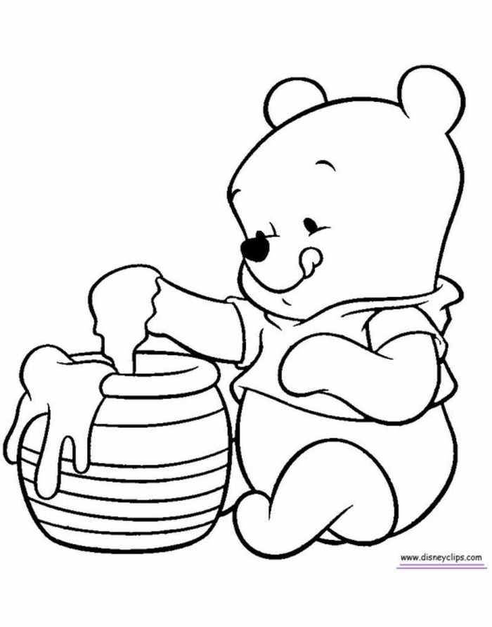 how to draw the Pooh Bear, original and easy to make drawings, small manual activity ideas