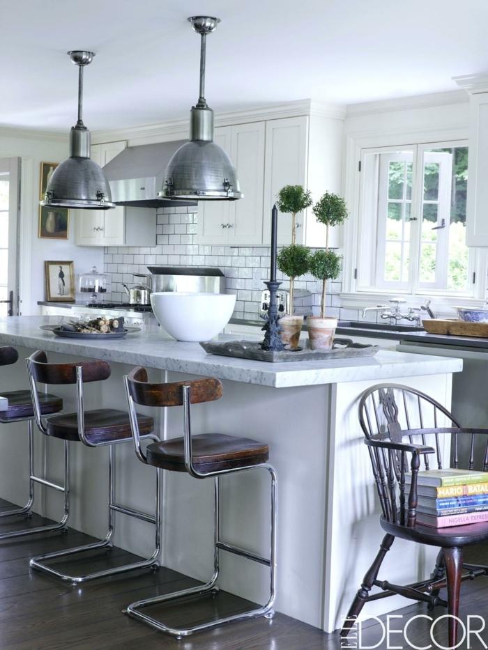 cocinas con barra alta y sillas, cocinas abiertas al salon ideas en fotos, las mejores ideas de cocinas modernas de diseño