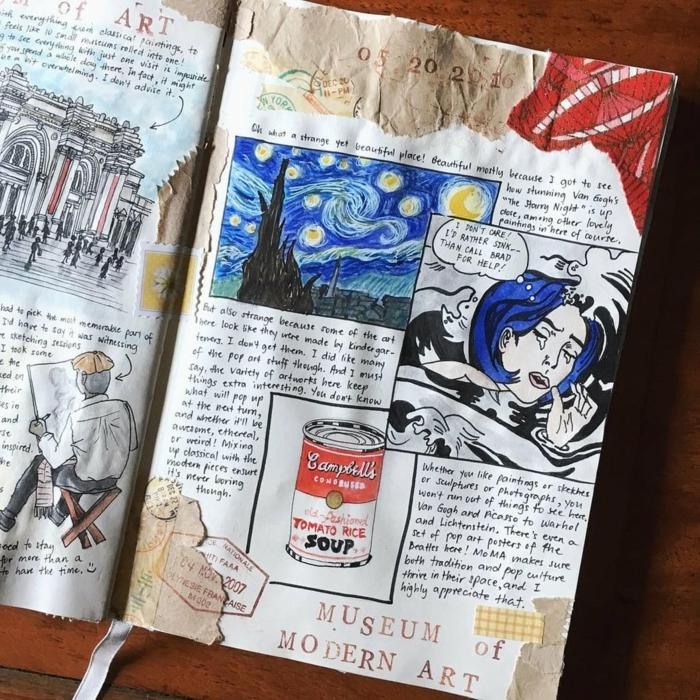 como hacer un cuaderno de viajes DIY en estilo vintage, ideas de regalos unicos paso a paso, manualidades para regalar