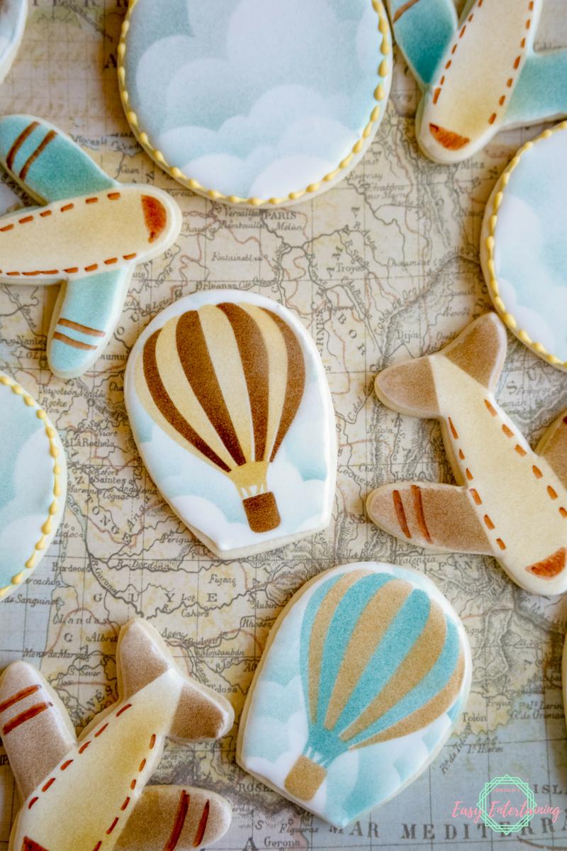 galletas temáticas caseras para una fiesta de cumpleaños, galletas para viajeros, más de 90 ideas de regalos hechos a mano