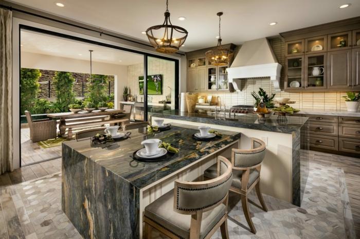 ideas sobre decoracion de cocinas rústicas, 100 fotos con ideas sobre como renovar una cocina con barra paso a paso