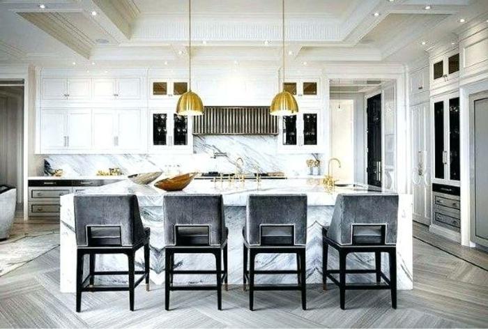 cocina abierta al salón en gris, decoracion de cocinas y consejos sobre las últimas tendencias en decoración de interiores