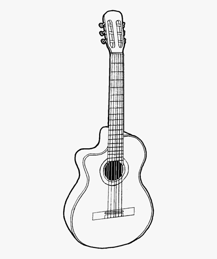 how to draw a guitar, easy step by step drawing ideas, easy kids drawings, pictures to draw