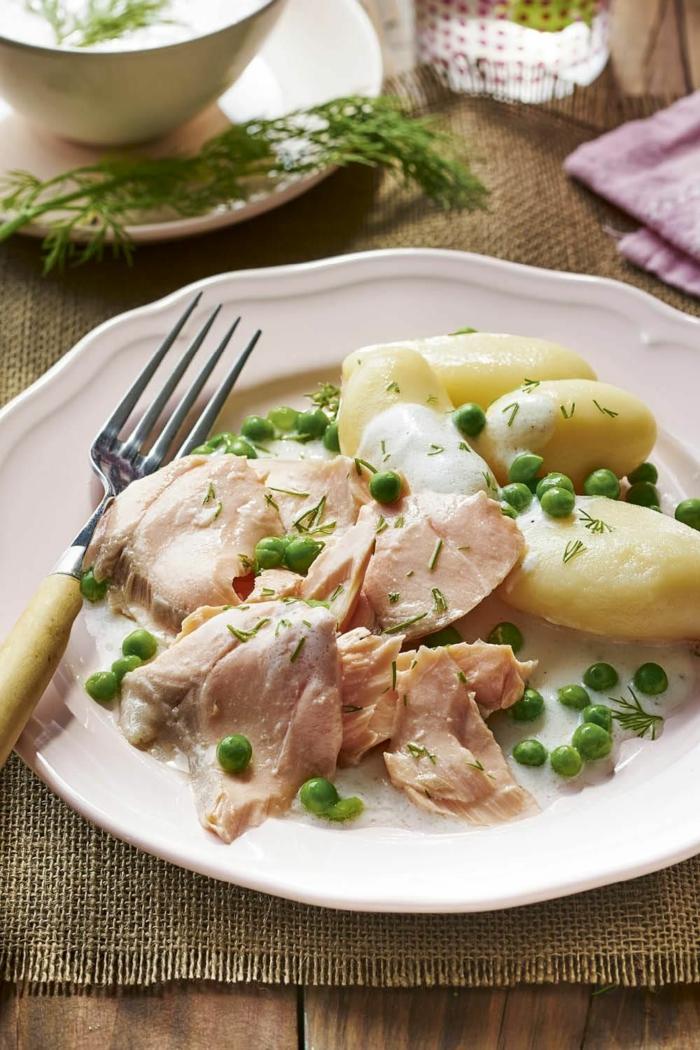 platos saludables y ricos para una dieta equilibrada, recetas faciles y rapidas para comer, carne con patatas y guisantes