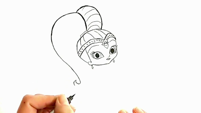 pequeños detalles para dibujar con marcador negro o lápiz, dibujo niña original y fácil de hacer, dibujos originales