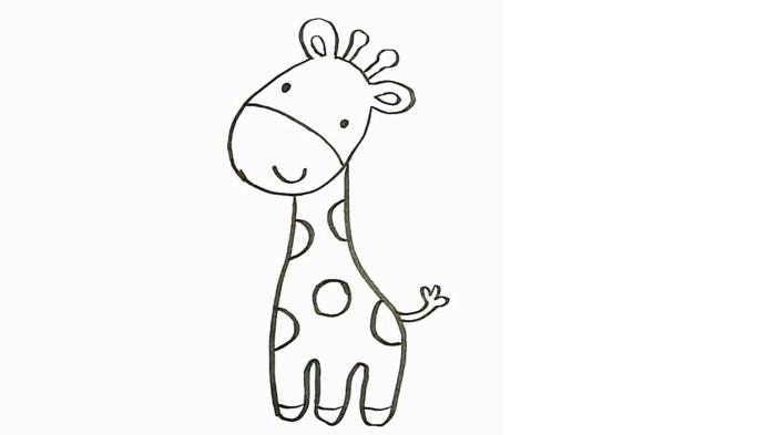 pequeño jirafa para dibujar en casa, dibujos bonitos de animales, ideas de actividades que fomentan la creatividad en los pequeños