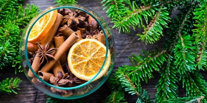 ideas fáciles y básicas para convertir tu casa en un lugar acogedor en Navidad, recetas de aromatizantes