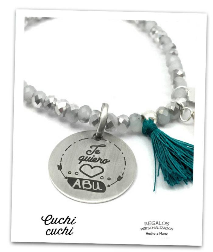 joyas y collares grabados originales, te quiero abu, ideas de regalos originales para mujeres especiales de la familia