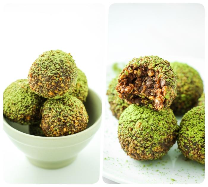 chocolate, nueces y polvo de pistacho, una combinación de sabores irresistible, las mejores ideas de bocados dulces en 100 fotos