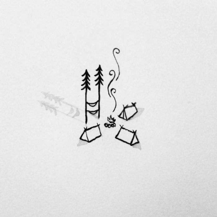 cosas para redibujar pequeñas, detalles para principiantes, dibujos marcador negro, ideas de dibujos sencillos para tatuajes
